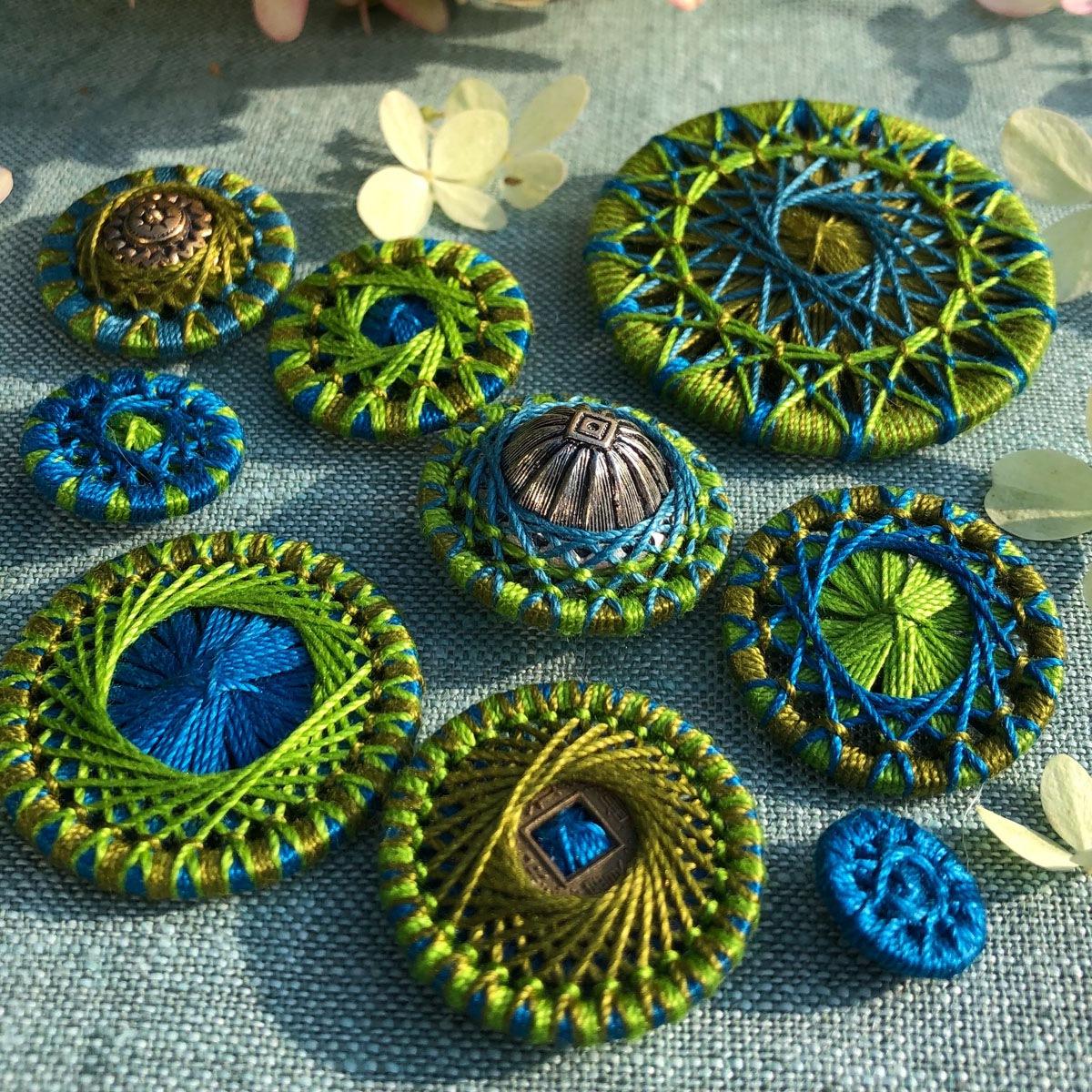 Variationen in Grün und Blau